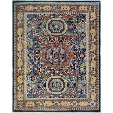 Bloomsbury Market Turner Gul Shaah Hand-Knotted Wool Blue Area Rug