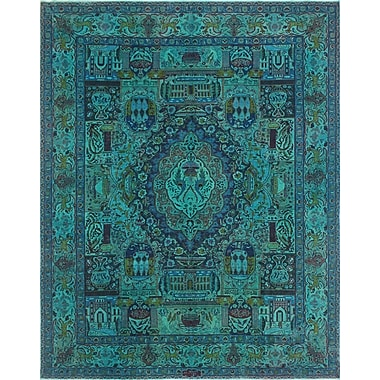 Bloomsbury Market Todd Distressed Bashir Teal Hand-Knotted Wool Blue Area Rug