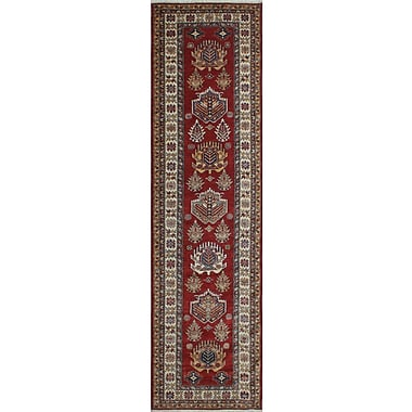 Bloomsbury Market Chanell Basir Hand-Knotted Wool Red Area Rug