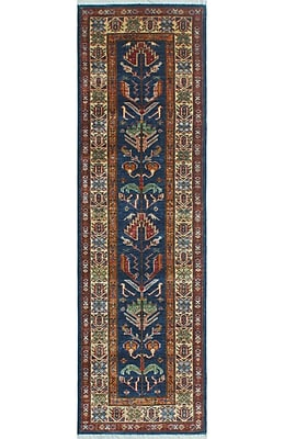 Bloomsbury Market Chanell Lima Hand-Knotted Wool Blue Area Rug