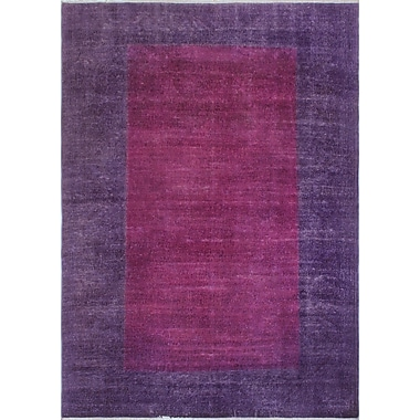 Bloomsbury Market Chaney Manizha Hand-Knotted Wool Purple Area Rug