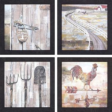 August Grove 'Mainland II' 4 Piece Graphic Art Print Set