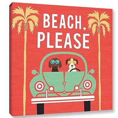 Latitude Run 'Beach Bums Beetle I Square' Graphic Art Print on Canvas; 14'' H x 14'' W x 2'' D