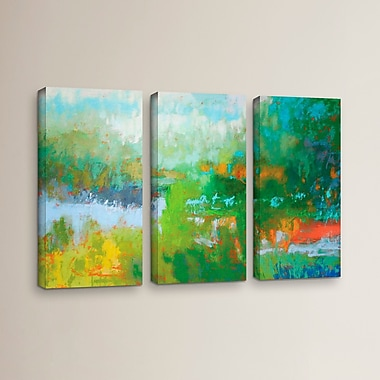 Latitude Run 'Southern Charm' 3 Piece Painting Print on Wrapped Canvas Set; 24'' H x 36'' W x 2'' D