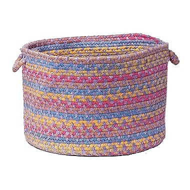 Harriet Bee Oliver Braided Storage Basket; Amethyst