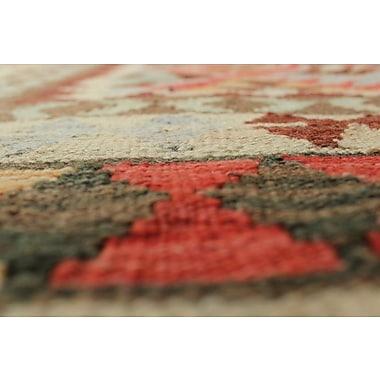 Loon Peak Vallejo Kilim Nadir Hand-Woven Wool Rust Area Rug