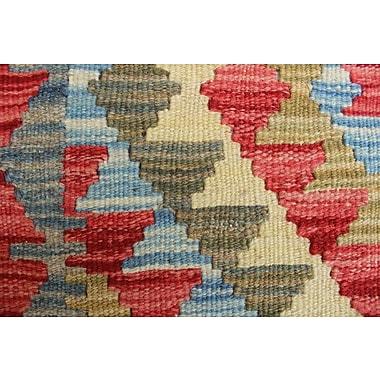 Loon Peak Vallejo Kilim Uzra Hand-Woven Wool Rust Area Rug