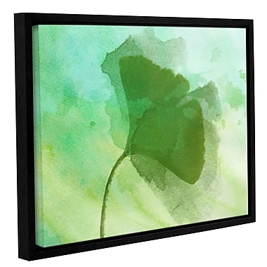 Latitude Run 'Summer Leaf III' Framed Print on Canvas; 8'' H x 10'' W x 2'' D