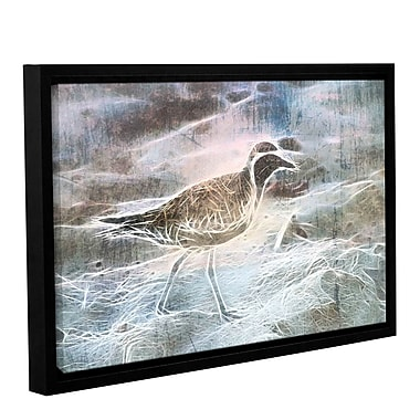 Latitude Run 'Beach Bird 2' Framed Graphic Art Print on Canvas; 8'' H x 12'' W x 2'' D