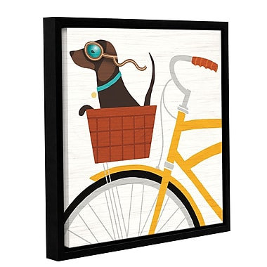 Latitude Run 'Beach Bums Dachshund Bicycle I' Framed Graphic Art Print on Canvas