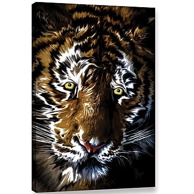 Ebern Designs 'Big Cat' Graphic Art on Wrapped Canvas; 24'' H x 16'' W x 2'' D