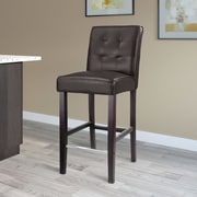 Darby Home Co Darchelle 31'' Bar Stool; Dark Brown