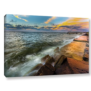 Ebern Designs 'Edge Water II' Photographic Print on Wrapped Canvas; 12'' H x 18'' W x 2'' D