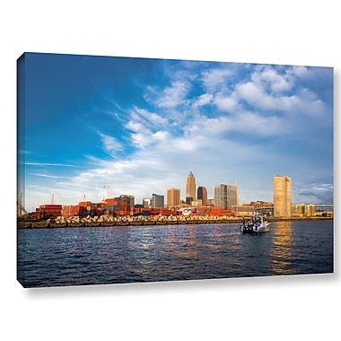 Ebern Designs 'Cleveland' Photographic Print on Wrapped Canvas; 16'' H x 24'' W x 2'' D