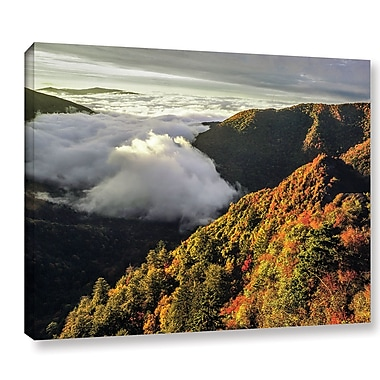 Ebern Designs 'Smoky Mountain' Photographic Print on Wrapped Canvas; 36'' H x 48'' W x 2'' D