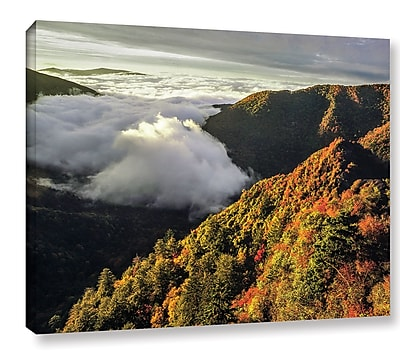 Ebern Designs 'Smoky Mountain' Photographic Print on Wrapped Canvas; 24'' H x 32'' W x 2'' D