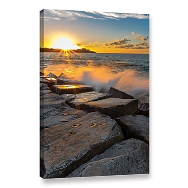 Ebern Designs 'Edge Water 1' Rectangle Photographic Print on Wrapped Canvas; 36'' H x 24'' W x 2'' D