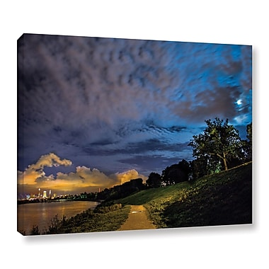 Ebern Designs 'Cleveland Lights' Photographic Print on Wrapped Canvas; 8'' H x 10'' W x 2'' D