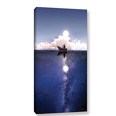 Ebern Designs 'Above the Night' Graphic Art on Wrapped Canvas; 48'' H x 24'' W x 2'' D