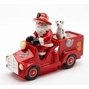 CosmosGifts Santa Driving Firetruck Salt and Pepper Combination