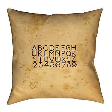 17 Stories Daniyar Vintage Typography Double Sided Print Throw Pillow; 20'' x 20''