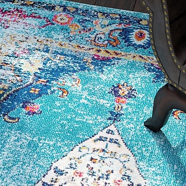 Bloomsbury Market Wallingford Aqua Area Rug; 5'3'' x 7'7''