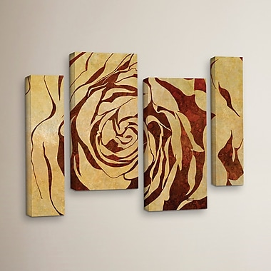 Bloomsbury Market 'Rose Shape Contrast' 4 Piece Graphic Art on Wrapped Canvas Set