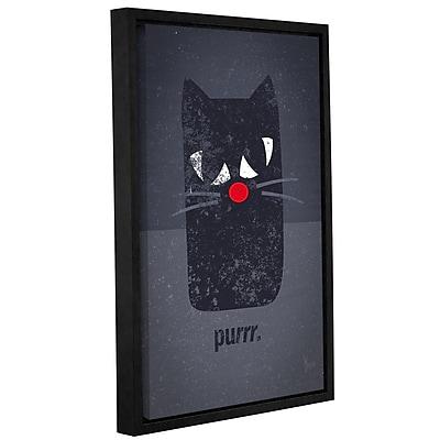 Ivy Bronx 'Purring Kitty Cat' Framed Graphic Art; 12'' H x 8'' W x 2'' D