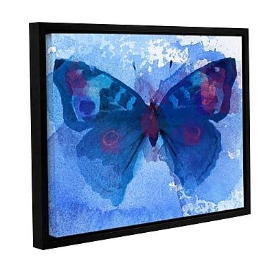 Latitude Run 'Butterfly Blue Dream' Framed Print on Canvas; 18'' H x 24'' W x 2'' D