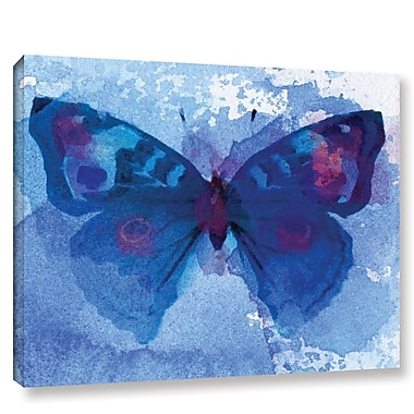 Latitude Run 'Butterfly Blue Dream' Print on Wrapped Canvas; 14'' H x 18'' W x 2'' D