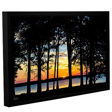 Latitude Run 'Rend Lake Silhouette' Framed Photographic Print; 16'' H x 24'' W x 2'' D