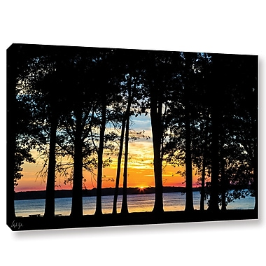 Latitude Run 'Rend Lake Silhouette' Photographic Print on Wrapped Canvas; 16'' H x 24'' W x 2'' D
