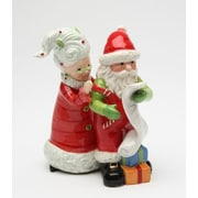 CosmosGifts Mrs.Claus and Santa Naughty or Nice 2-Piece Salt And Pepper Set