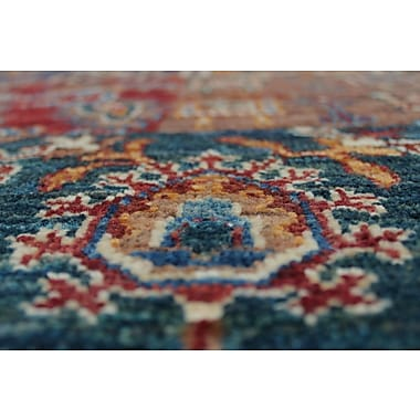 Bloomsbury Market Trevor Qudratu Hand-Knotted Wool Red Area Rug