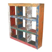 Bloomsbury Market Recycled Teak Square Wood Wall Decor