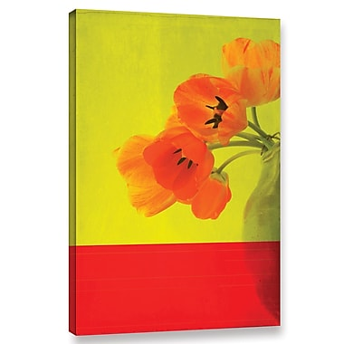 Latitude Run 'Red Tulips' Graphic Art on Wrapped Canvas; 24'' H x 16'' W x 2'' D