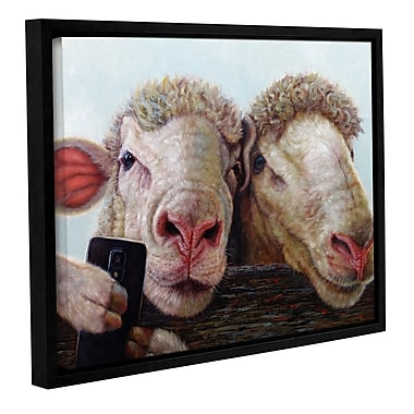 East Urban Home 'Selfie' Framed Painting Print on Canvas; 24'' H x 32'' W x 2'' D