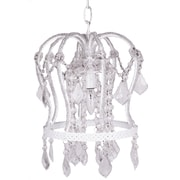 Harriet Bee Senoia Crown 1-Light Mini Pendant; White