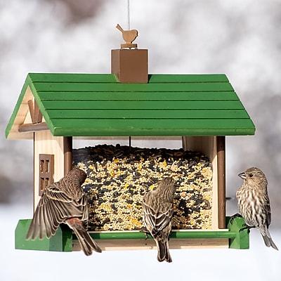 Perky Pet Mountain Lodge Wood Hopper Bird Feeder (WYF078281905624) photo