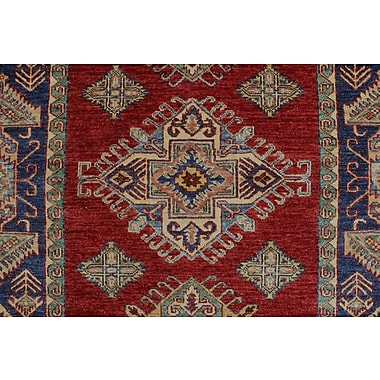 Bloomsbury Market Chanell Temur Hand-Knotted Wool Red Area Rug