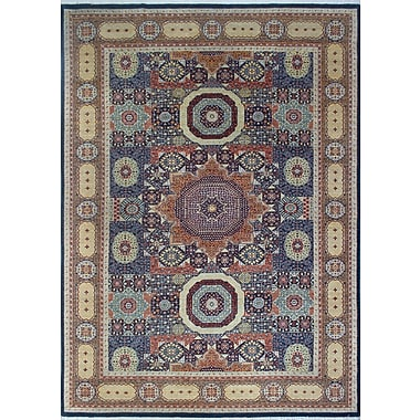 Bloomsbury Market Turner Obiada Hand-Knotted Wool Blue Area Rug