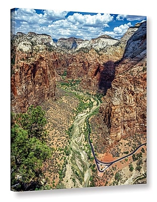 East Urban Home 'Zion 01' Photographic Print on Wrapped Canvas; 24'' H x 18'' W x 2'' D