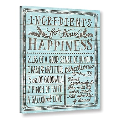 Latitude Run 'Ingredients for Life II' Textual Art on Wrapped Canvas; 18'' H x 14'' W x 2'' D
