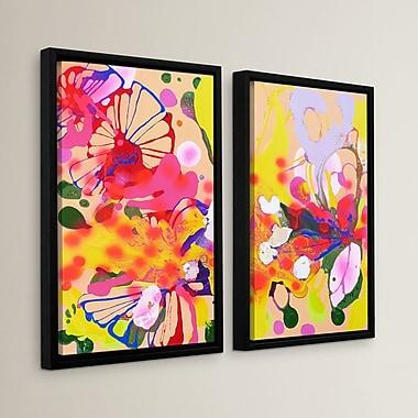 Latitude Run 'Lola Fiesta' 2 Piece Framed Painting Print Set; 36'' H x 54'' W x 2'' D