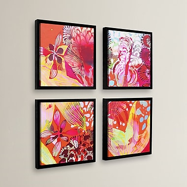 Latitude Run 'You Can't Catch Me' 4 Piece Framed Painting Print Set; 36'' H x 36'' W x 2'' D
