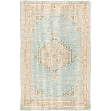 Bloomsbury Market Alessi Hand-Knotted Beige/Blue Area Rug