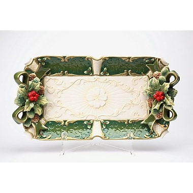 The Holiday Aisle Emerald Holiday Accent Tray