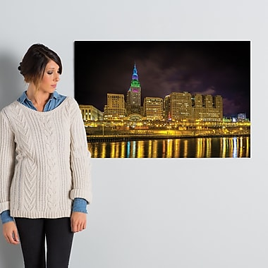 Latitude Run 'Cleveland Gold' Photographic Print on Wrapped Canvas; 24'' H x 36'' W x 2'' D