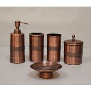 Bloomsbury Market Lisse 5 Piece Bath Accessory Set; Copper