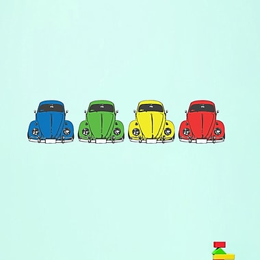 SweetumsWallDecals Colorful Cars Printed Wall Decal; 12'' H x 13'' W